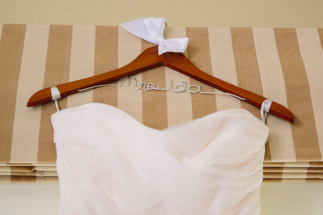 wedding hanger with last name