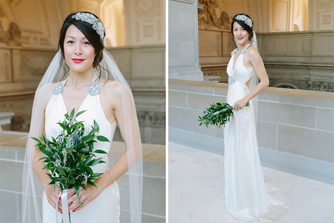 San Francisco City Hall wedding, Bridal portraits