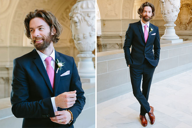 Groom portraits at City Hall