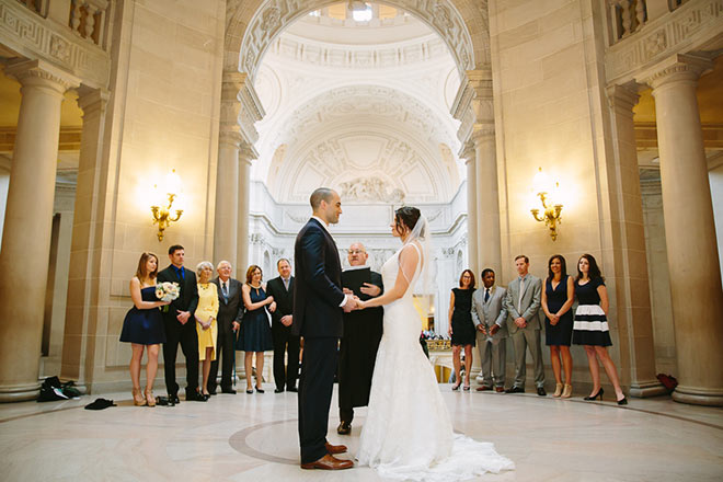 Wedding Ceremony in Rotunda at SF City Hall