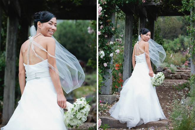 Bride after her UC Berkeley Botanical Garden Wedding