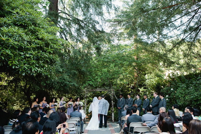 Wedding ceremony at Outdoor Arts Club in Mill Valley