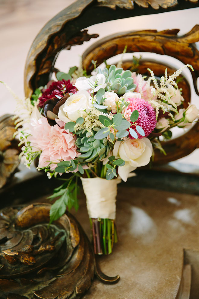 San Francisco wedding photographer, beautiful bridal bouquet at San Francisco City Hall wedding