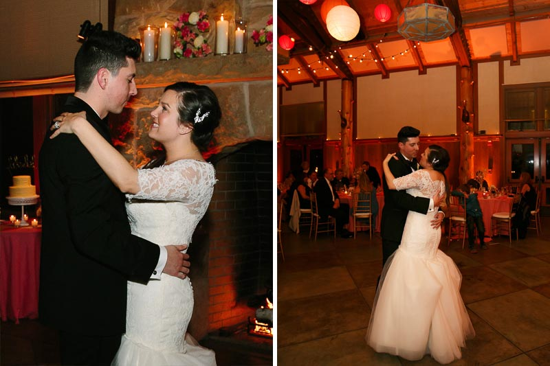 Bride and groom's first dance at their San Francisco wedding